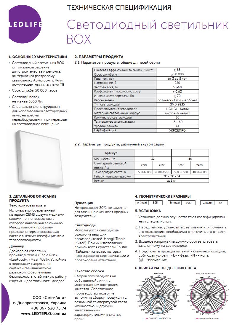 Панель светодиодная LedLife Box